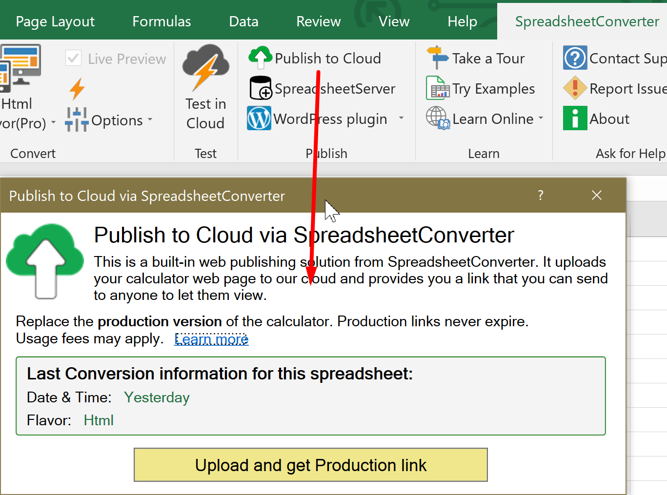 How To Link An Excel Spreadsheet To A Web Page With Import