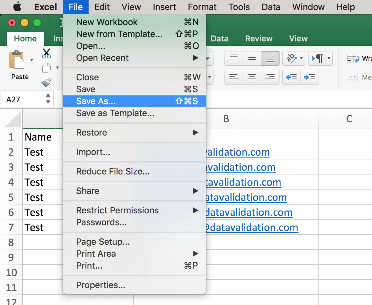 How To Open Excel Spreadsheet On Mac In List Formatting