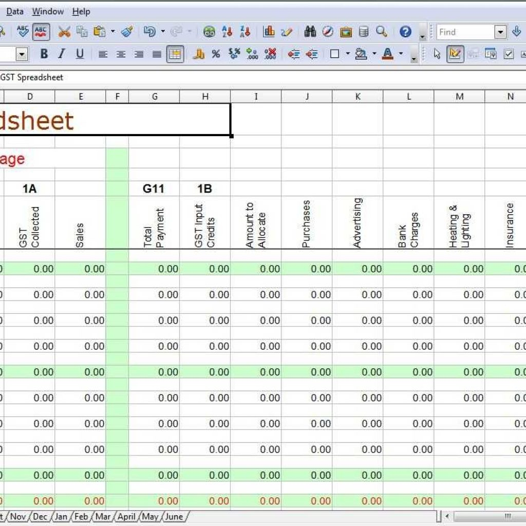 How To Set Up Excel Spreadsheet For Business Expenses
