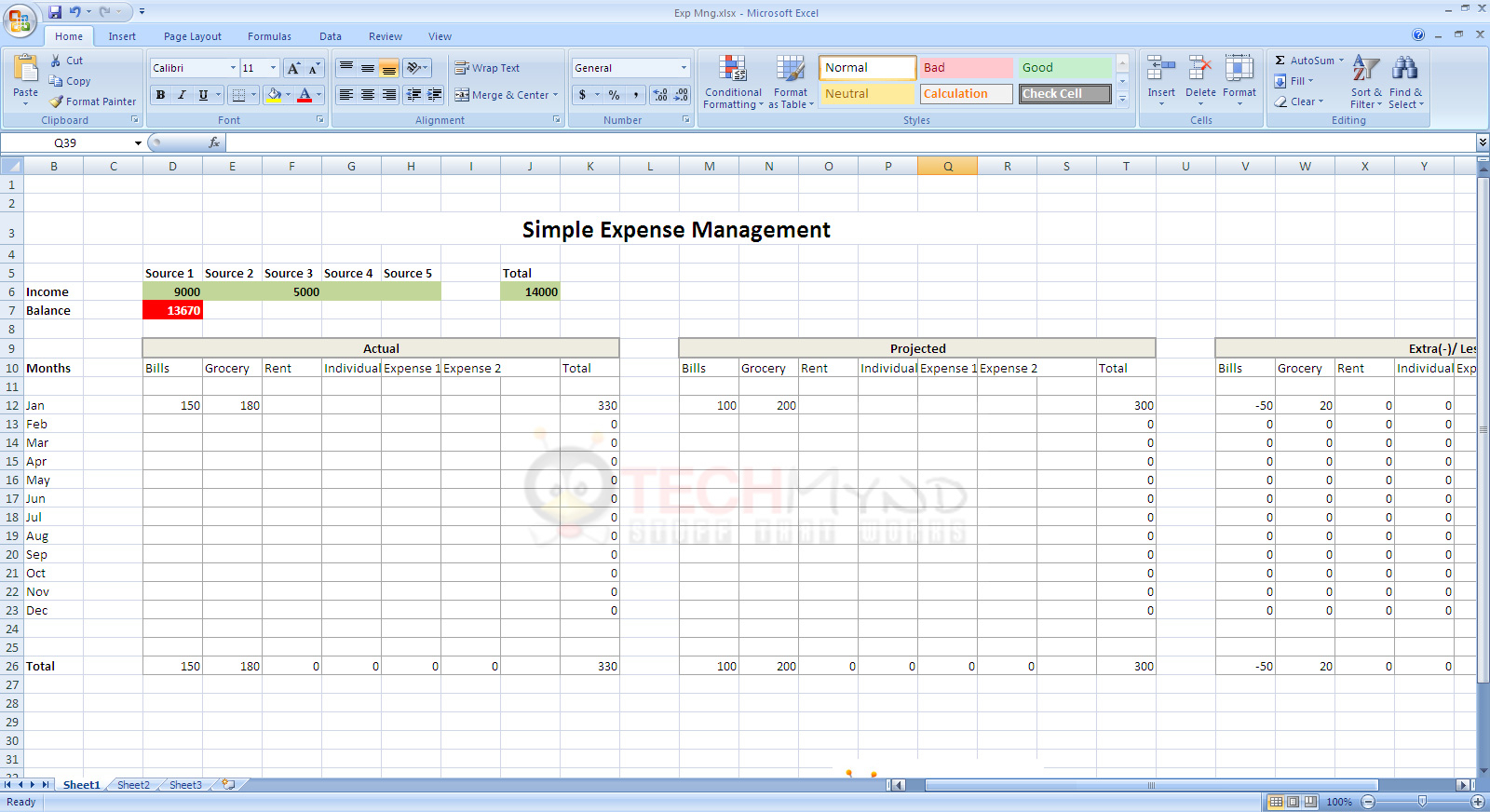 How To Start An Excel Spreadsheet With Expense Management