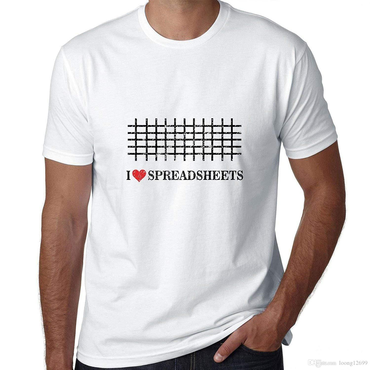 I Love Spreadsheets T Shirt Db Excel