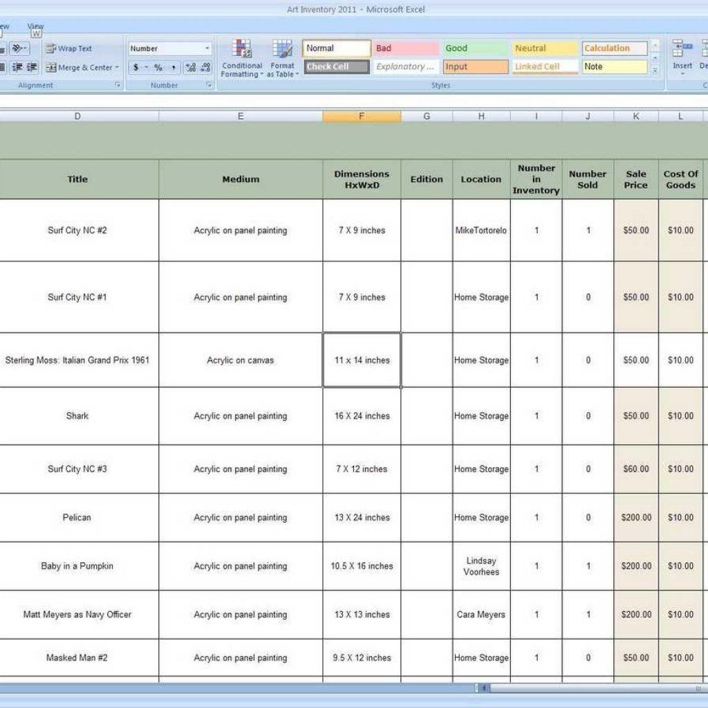 Inventory Control Management Excel Spreadsheet Regarding