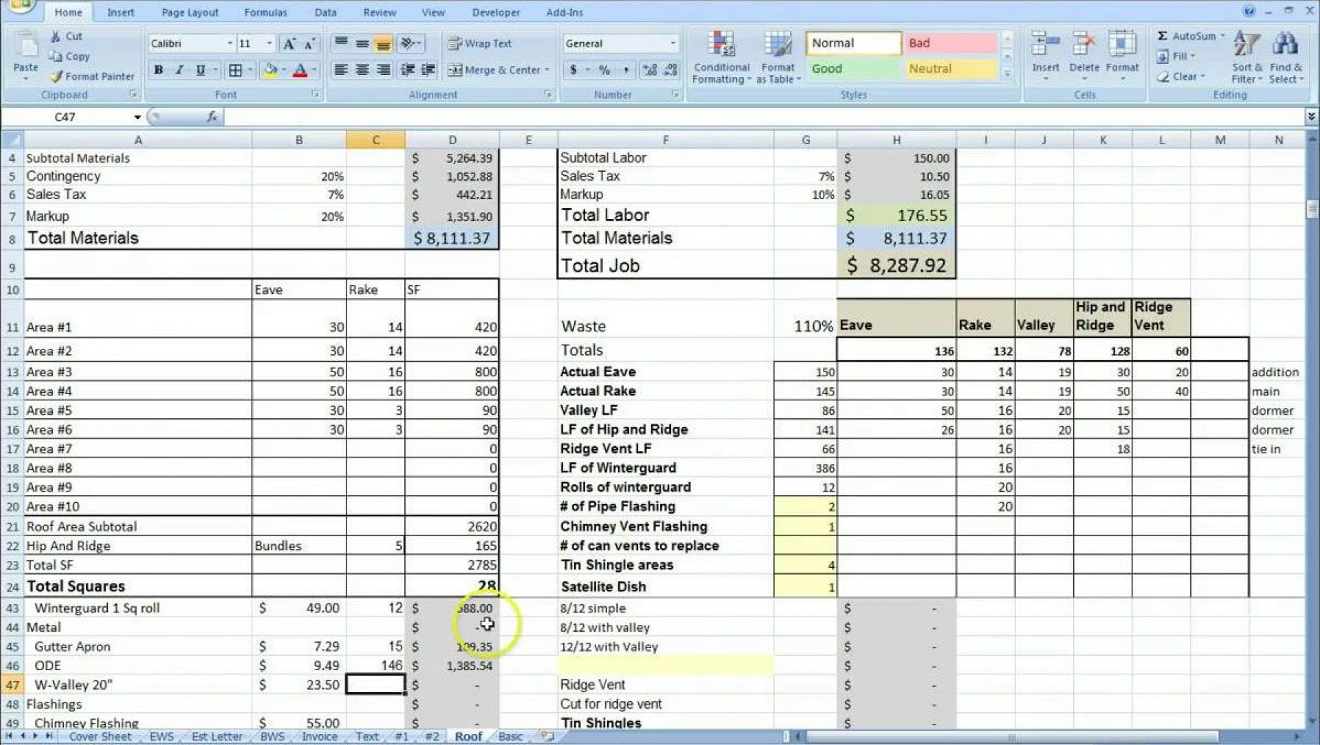 Job Cost Spreadsheet Template For 022 Template Ideas Job
