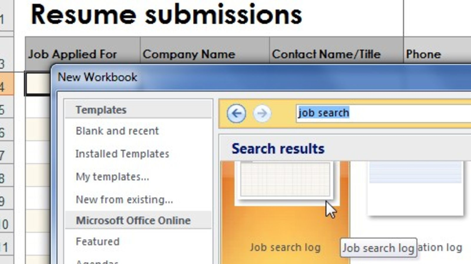 Job Search Spreadsheet Sheets In Create A Log To