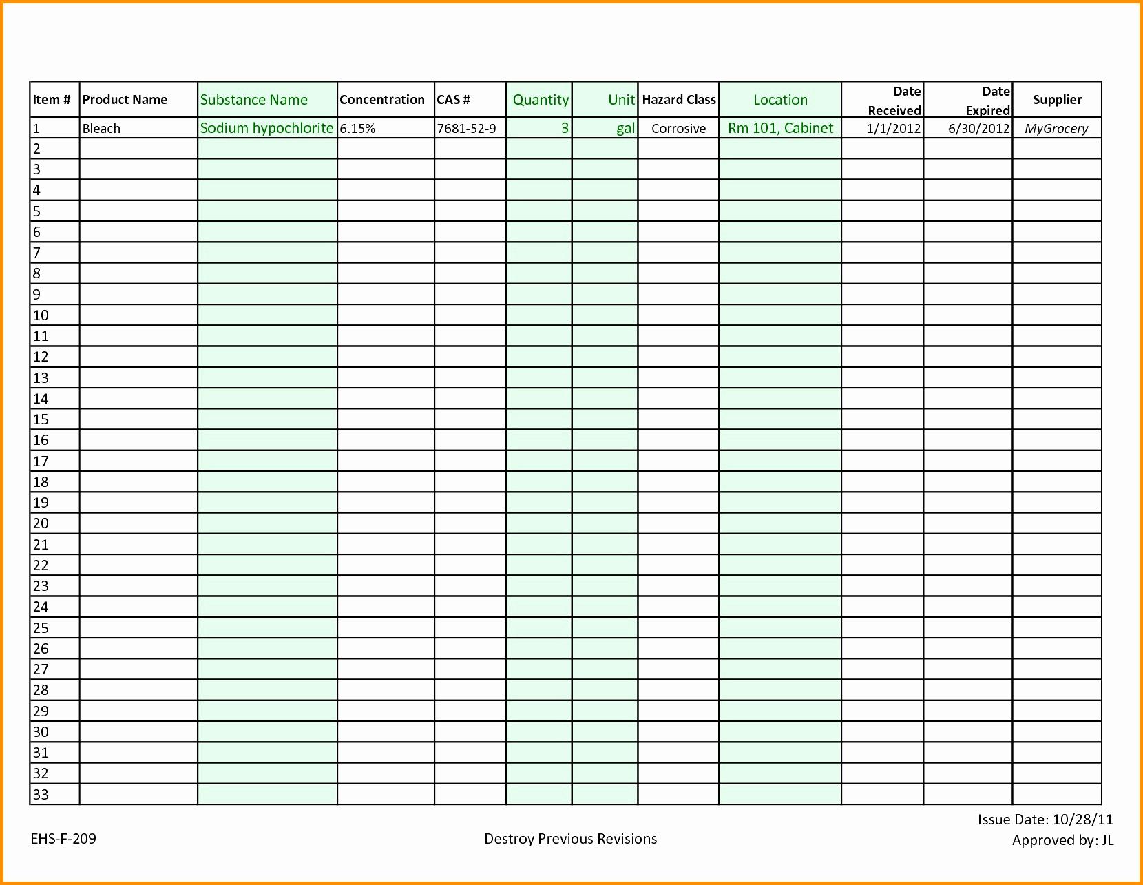 Kitchen Inventory Spreadsheet Excel Throughout Restaurant