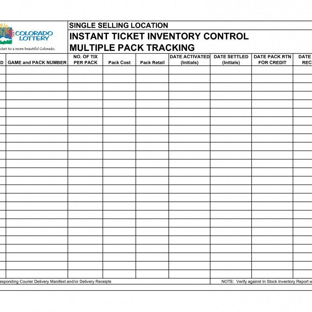 Lottery Inventory Spreadsheet For Stock Inventory Sheet La