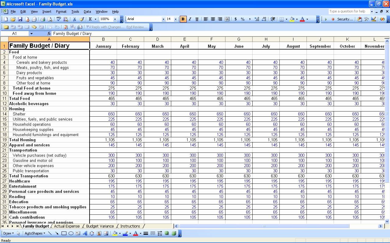 Managing Bills Spreadsheet Free Spreadsheet Downloa