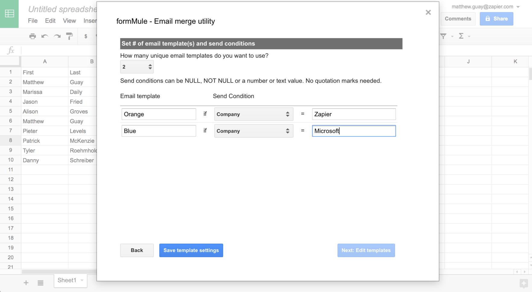 Mass Email From Excel Spreadsheet Spreadsheet Downloa Mass