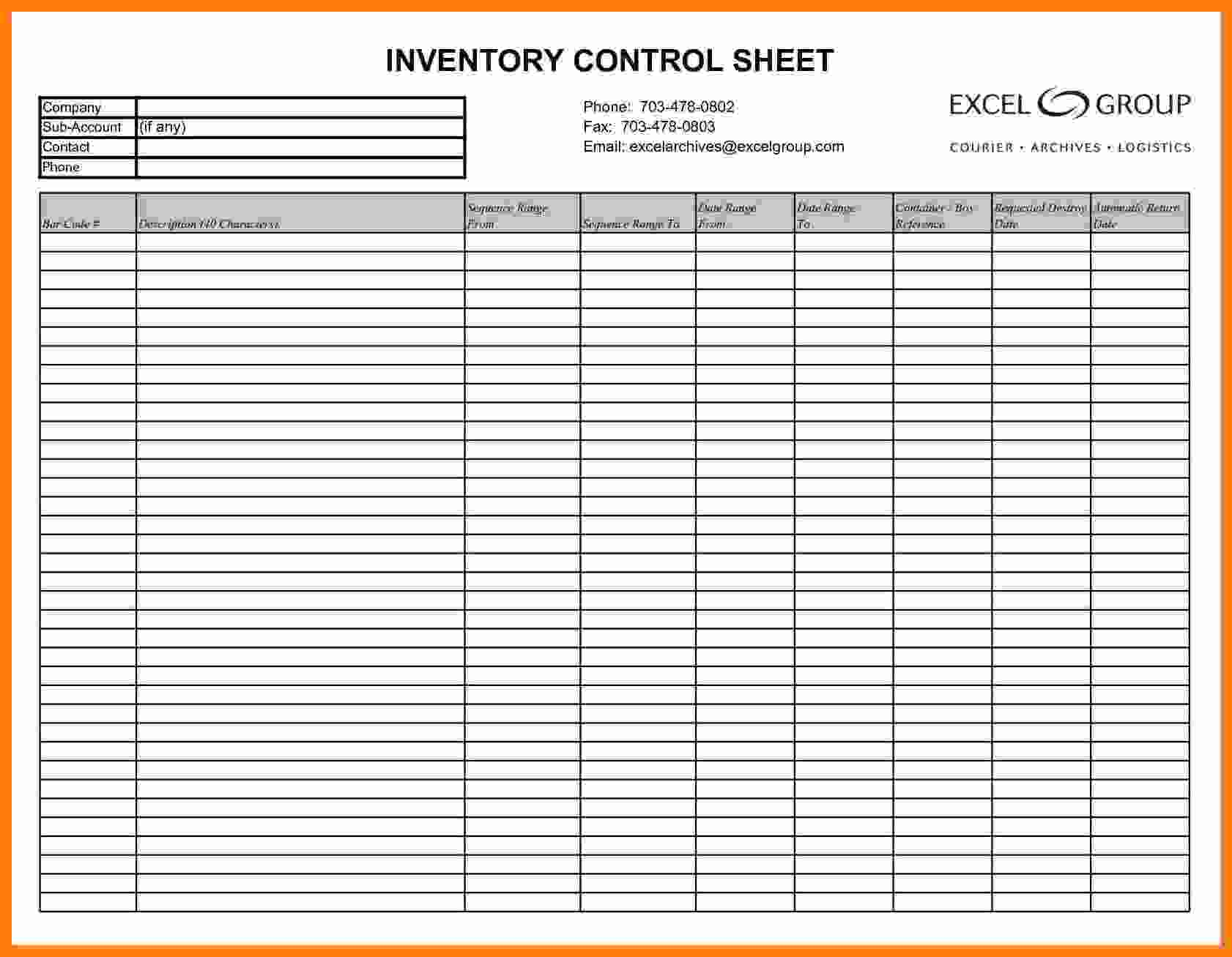 Merchandise Inventory Spreadsheet Intended For 6