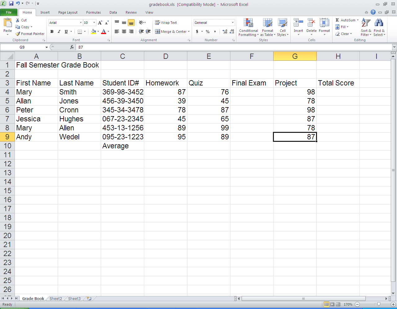 Microsoft Excel Spreadsheet Instructions Pertaining To