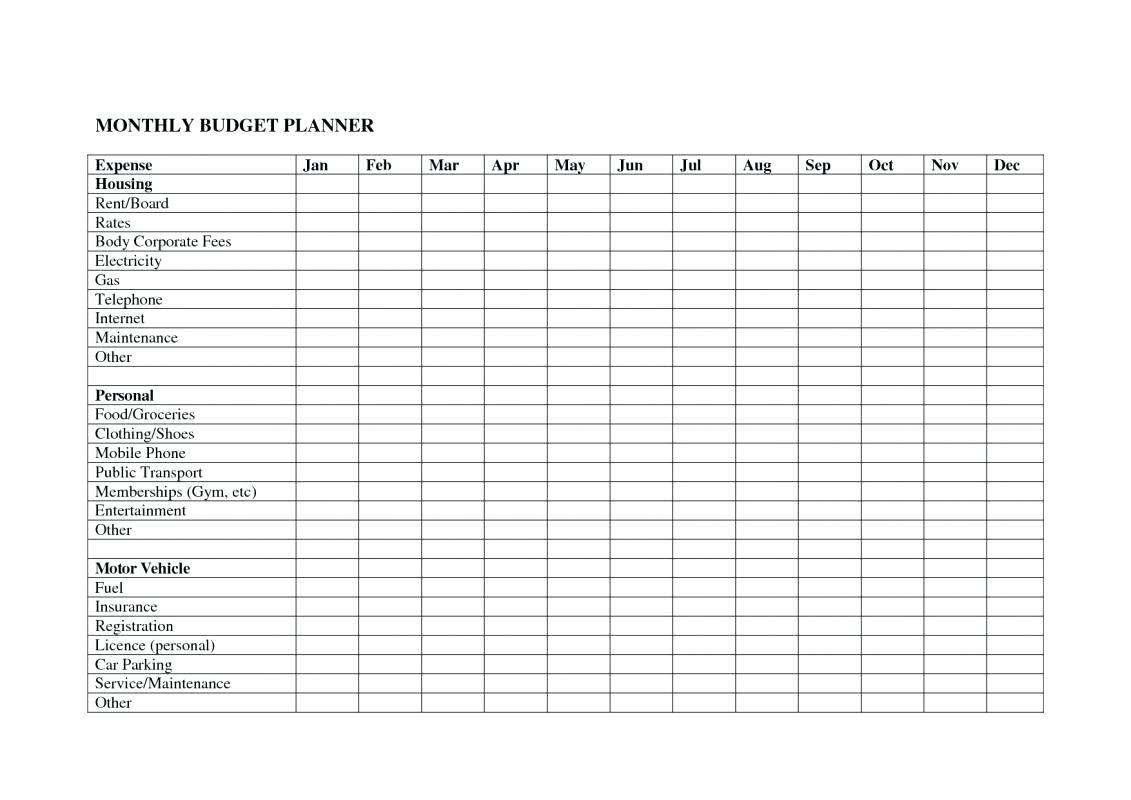 Monthly Utilities Spreadsheet Spreadshee Monthly