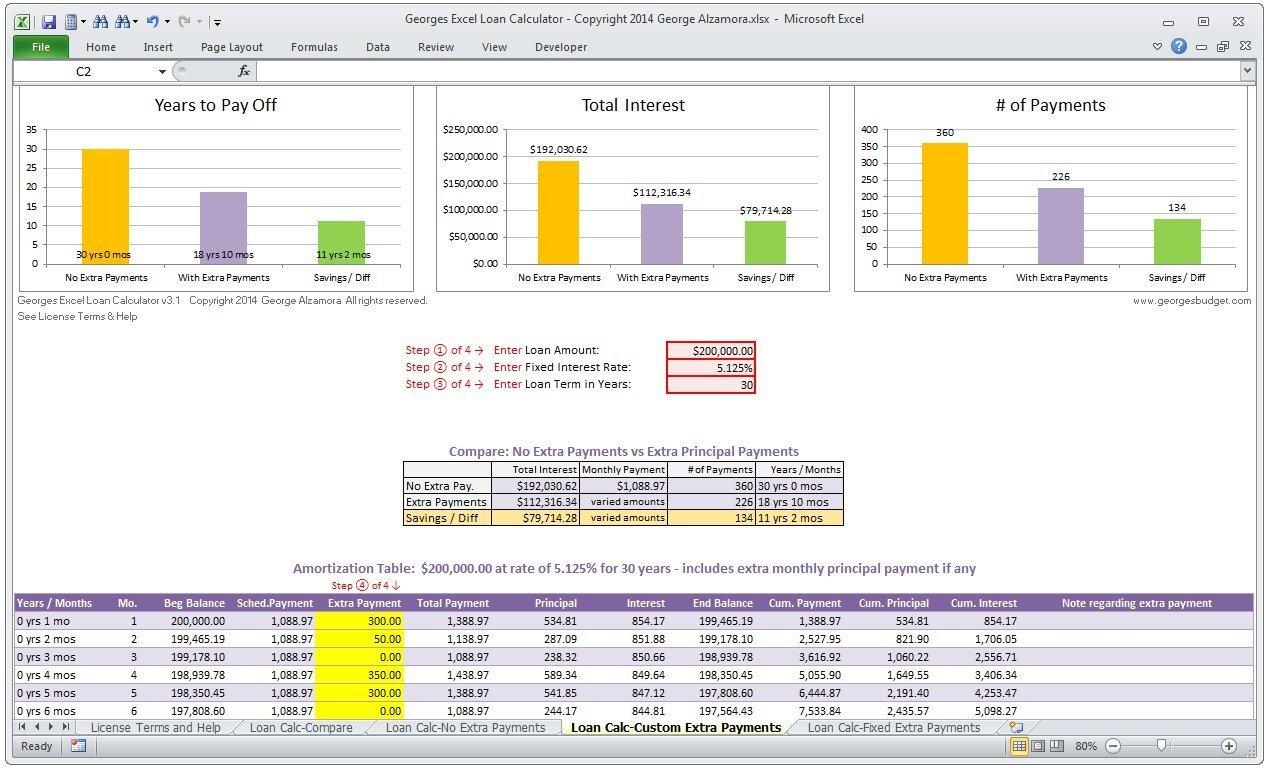 34 Mortgage Loan Comparison Worksheet