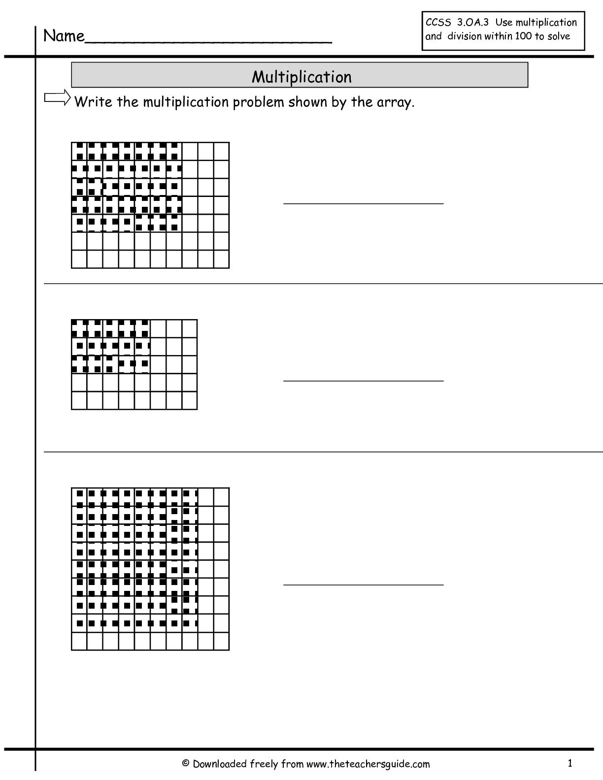 Multiplication Spreadsheet Within Multiplication Array