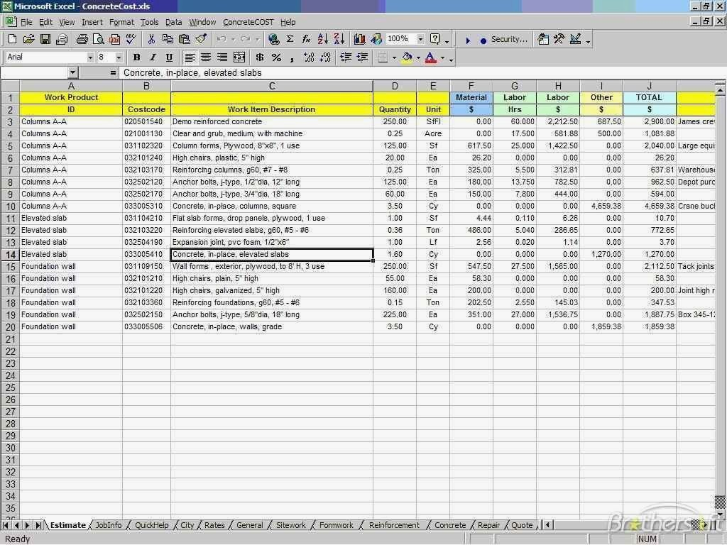 New Home Construction Cost Spreadsheet Spreadsheet Downloa