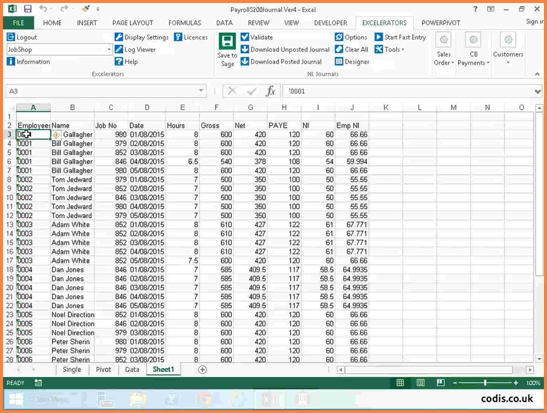 Payroll Spreadsheet Example Pertaining To Payroll Sheet