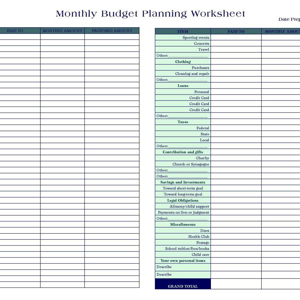 Personal Finance Budget Spreadsheet Spreadshee