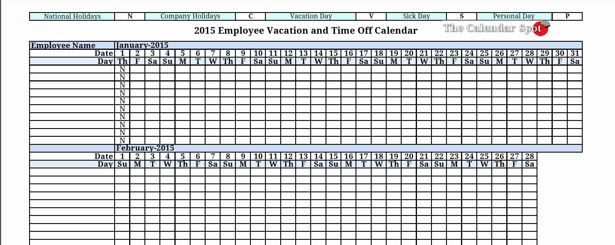 Personal Time Off Tracking Spreadsheet Spreadsheet Downloa