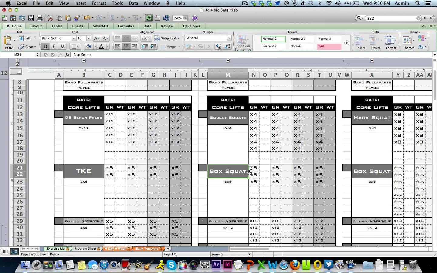Personal Trainer Spreadsheet Template Spreadsheet Downloa