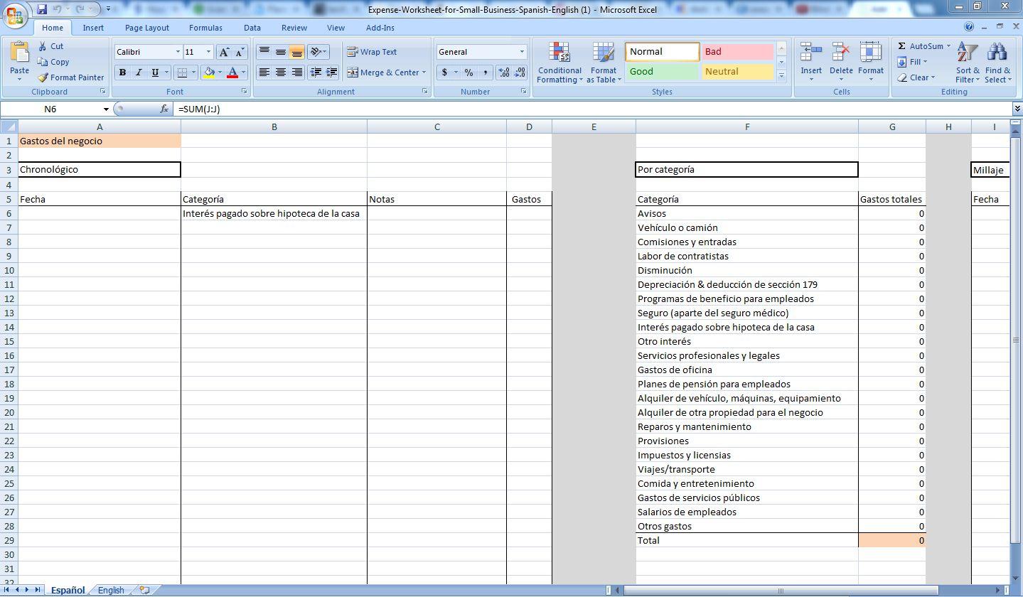 Photographer Expenses Spreadsheet Spreadsheet Downloa
