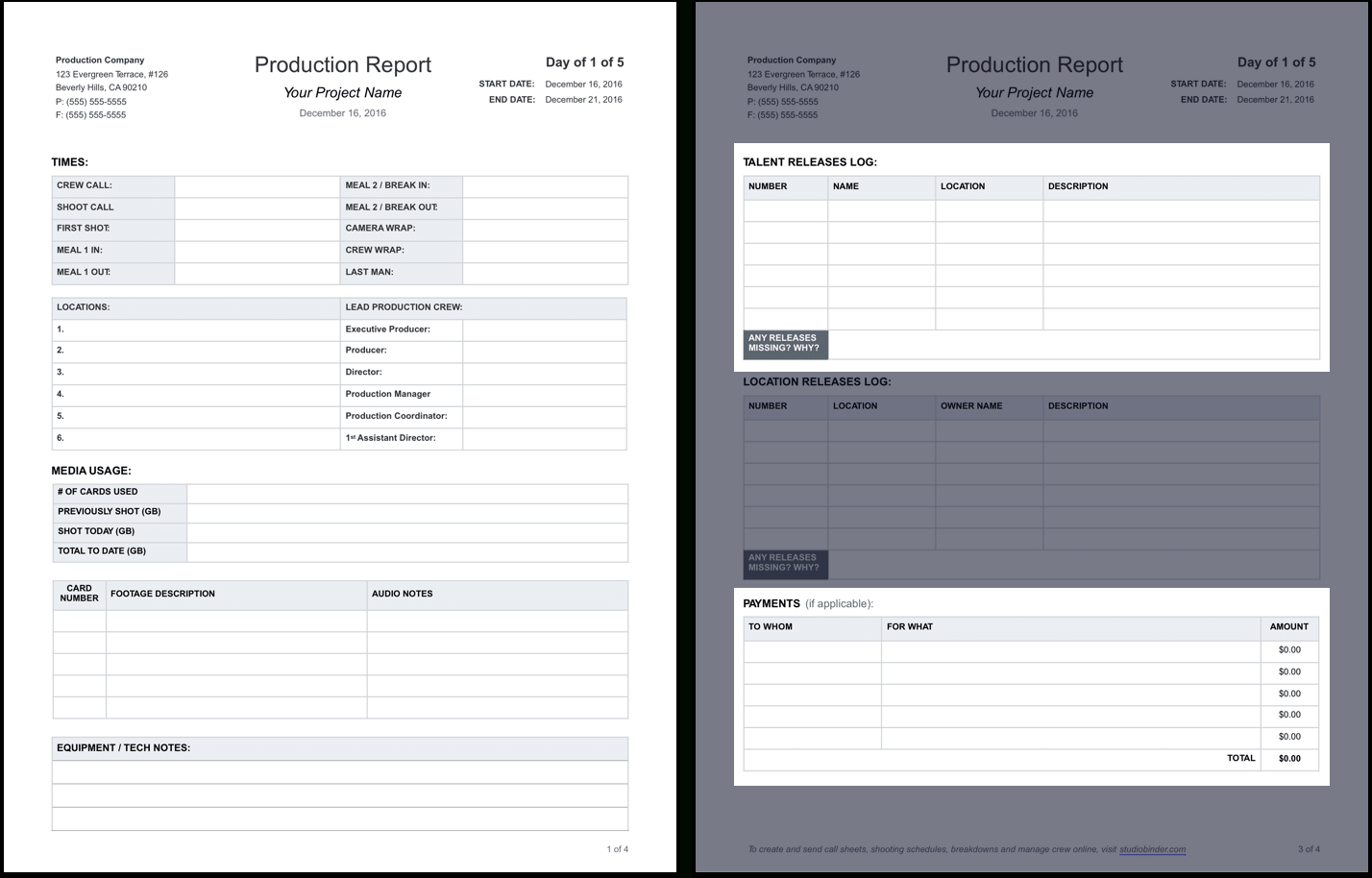 Pipe Tally Spreadsheet For The Daily Production Report