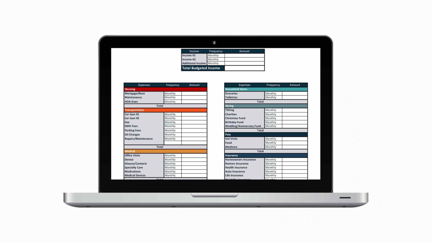 Printable Budget Spreadsheet Inside 7 Free Printable