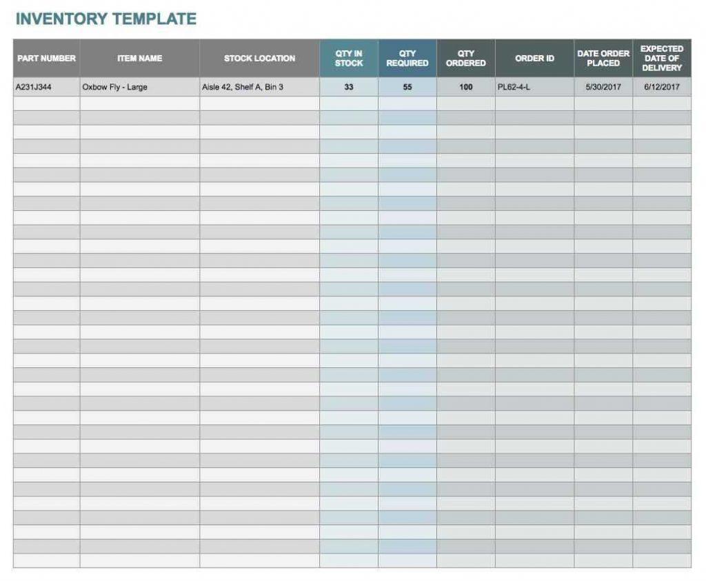 Printable Spreadsheet Regarding Kitchen Inventory