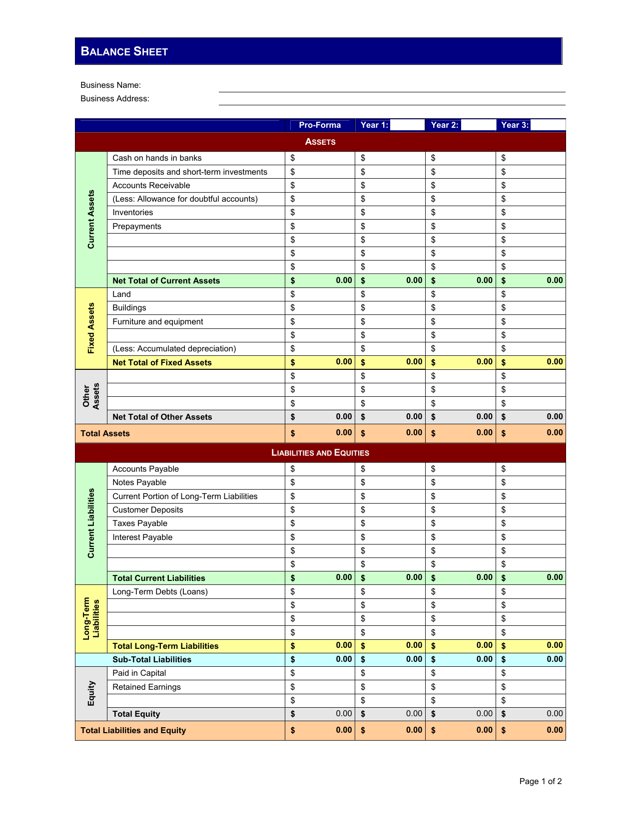 Pro Forma Excel Spreadsheet Throughout Pro Formace Sheet