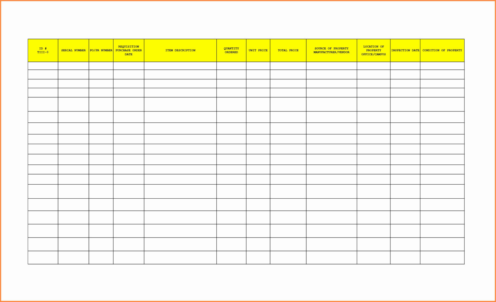Purchase Order Tracking Spreadsheet In Purchase Order