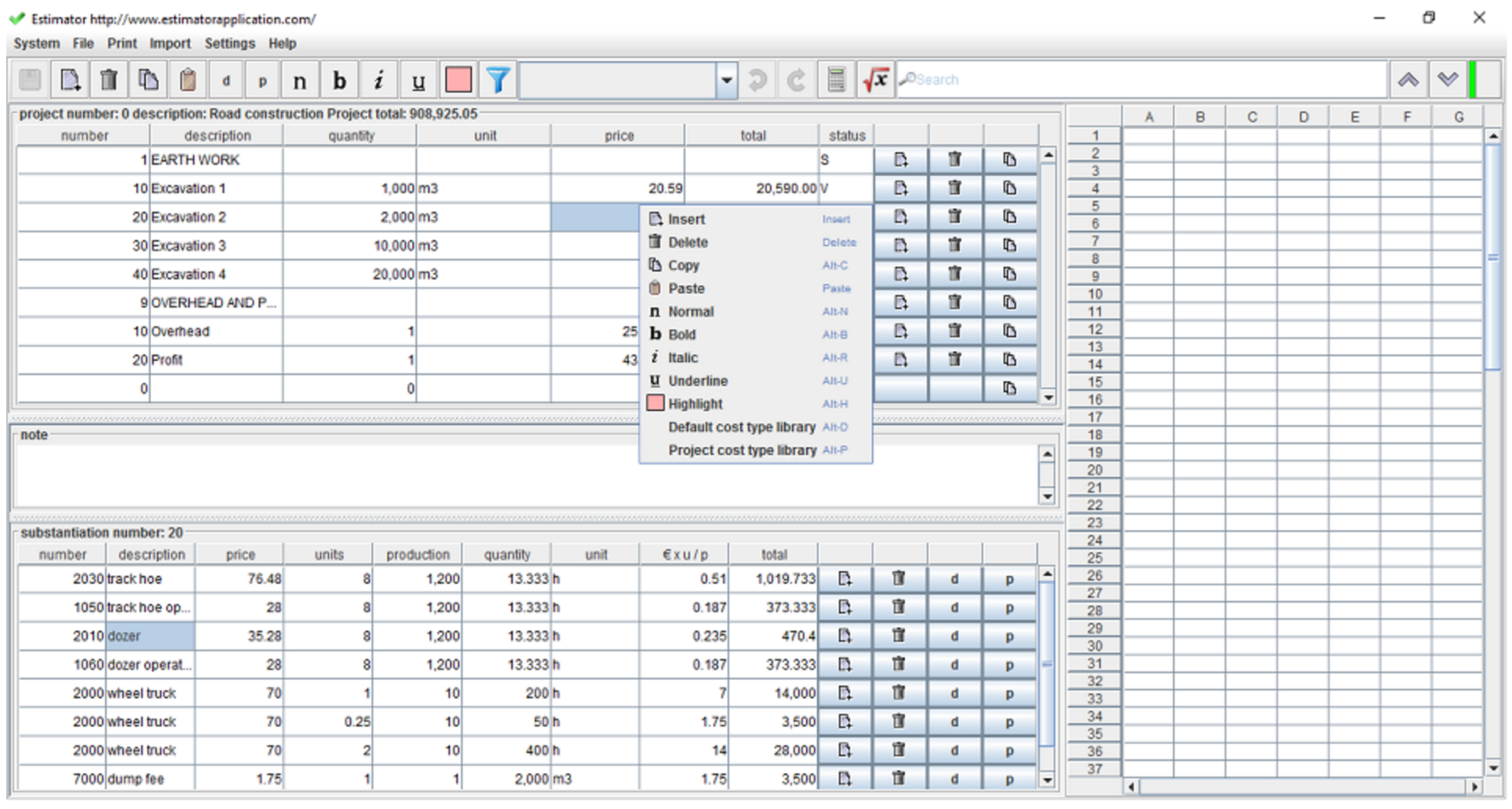 Quantity Surveyor Excel Spreadsheets Regarding