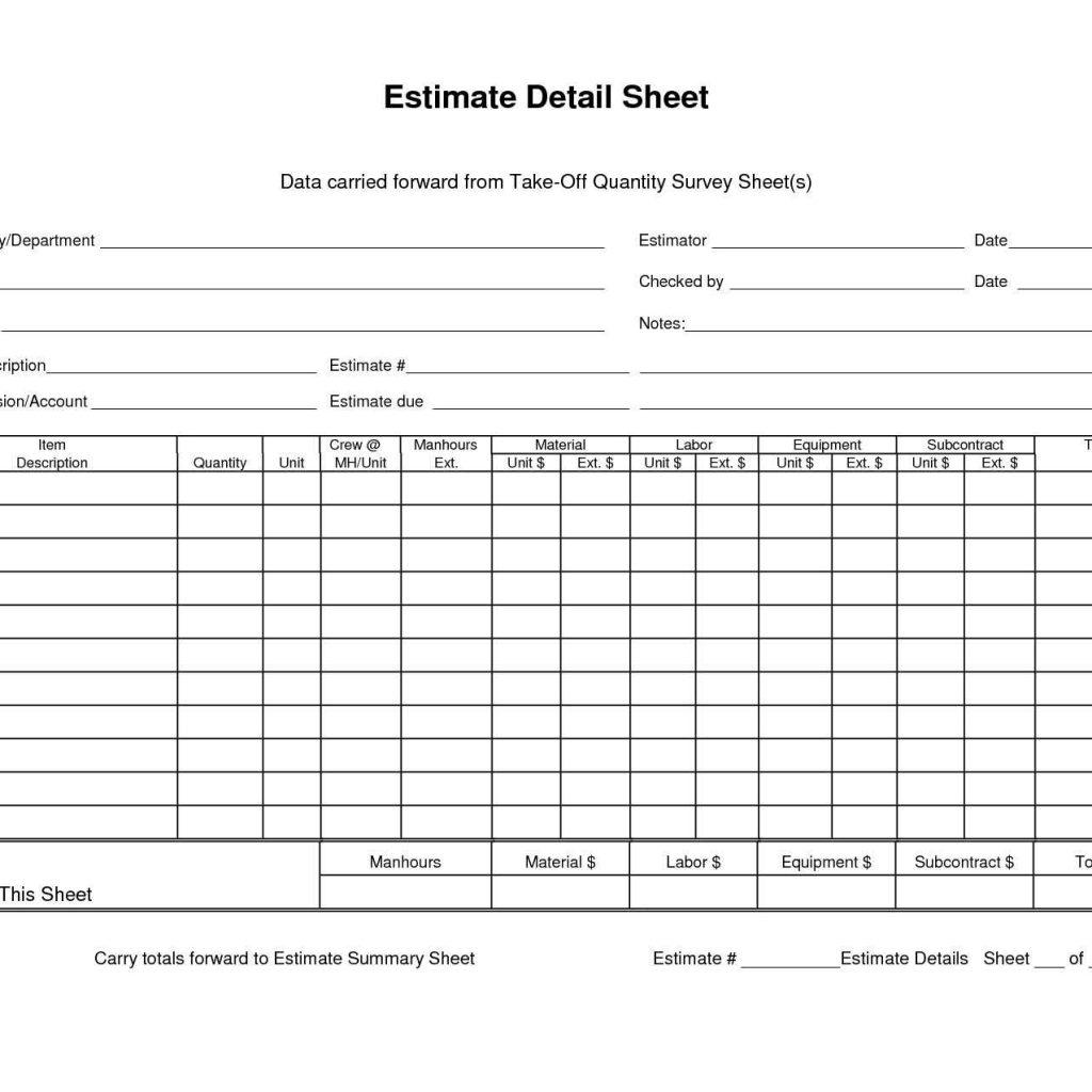 Quantity Takeoff Spreadsheet Spreadsheet Downloa Construction Quantity Takeoff Spreadsheet