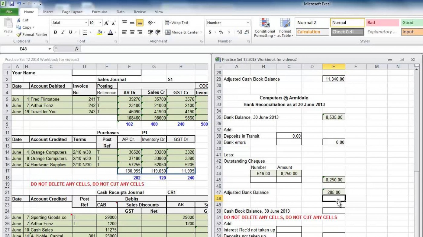 Reconciliation Excel Spreadsheet Spreadshee