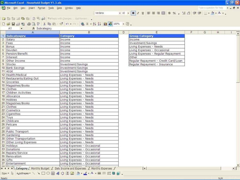 Retirement Budget Spreadsheet Excel In Retirement Planning