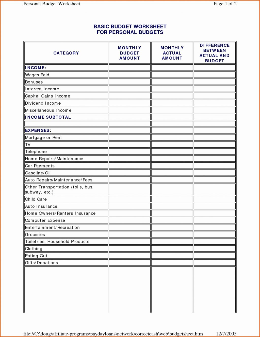 Retirement Planning Budget Spreadsheet With Retirement