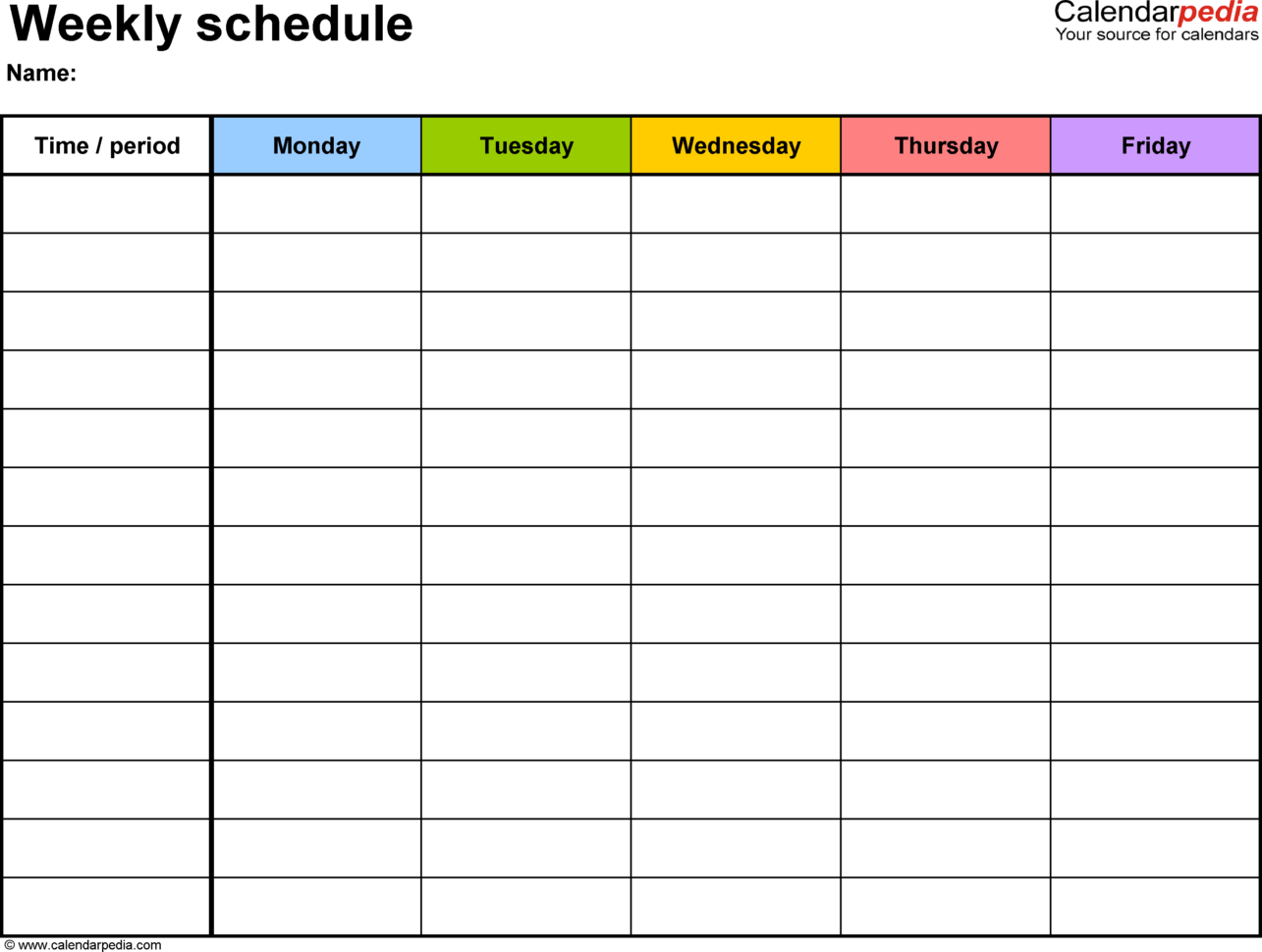 Roster Spreadsheet Template Free For Free Weekly Schedule