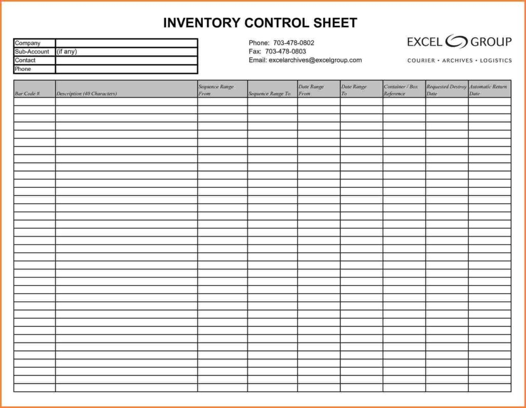 Sample Of Inventory Spreadsheet In Excel For Sample Of