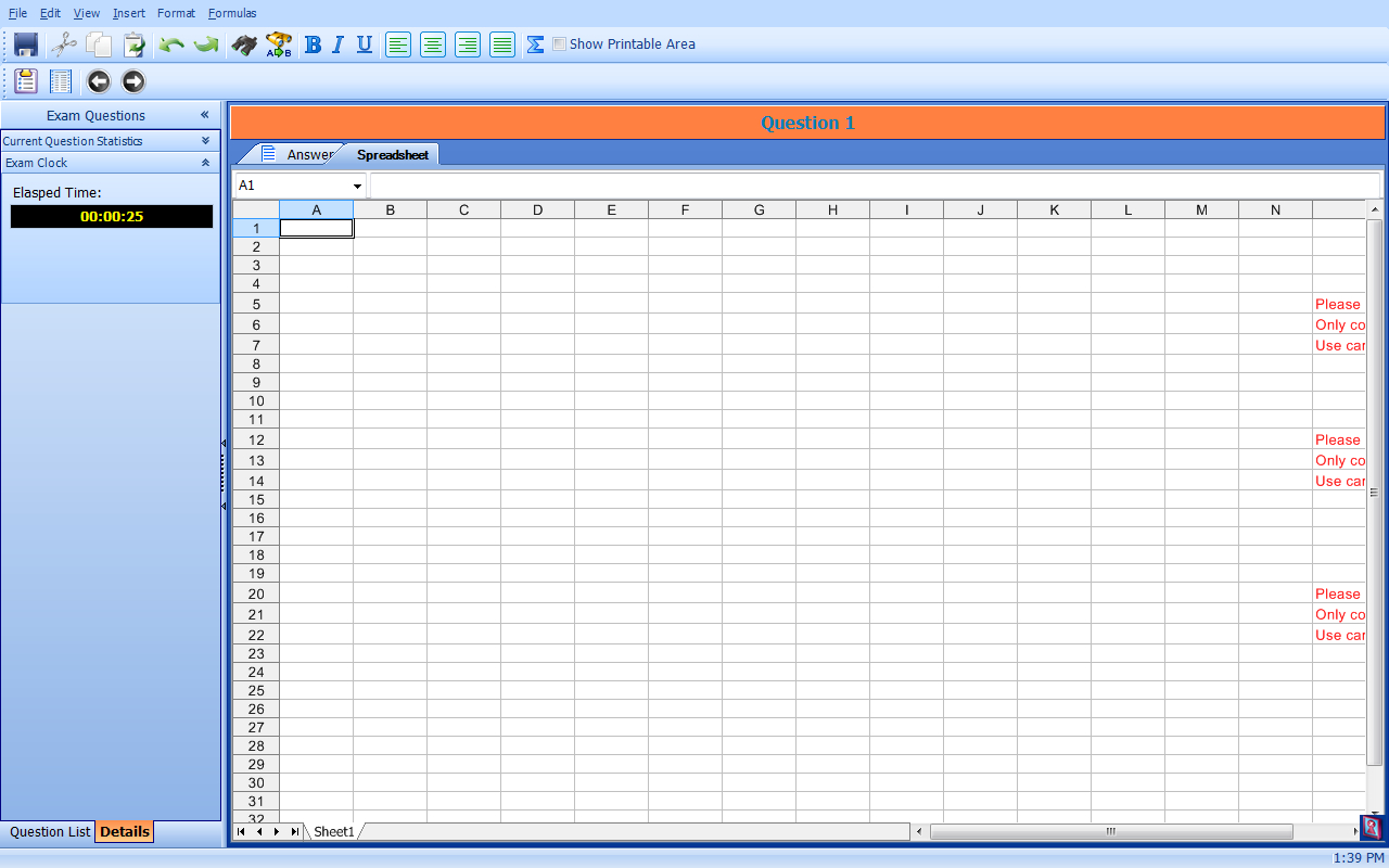 Secure Spreadsheet Within Saica Taking A Practice Or