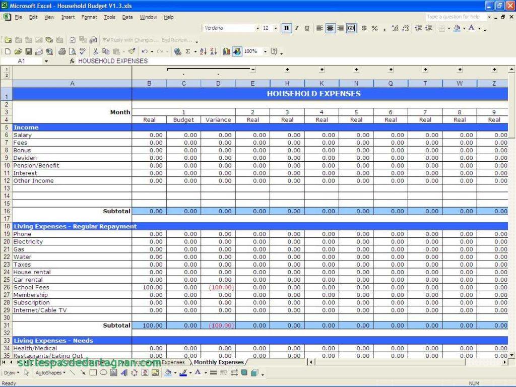 Self Employed Expenses Spreadsheet Free Spreadsheet