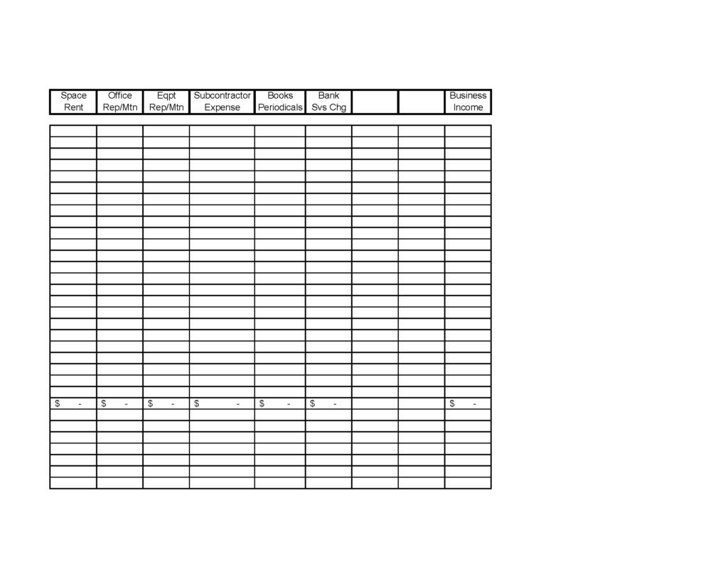 Self Employed Expenses Spreadsheet Spreadsheet Downloa