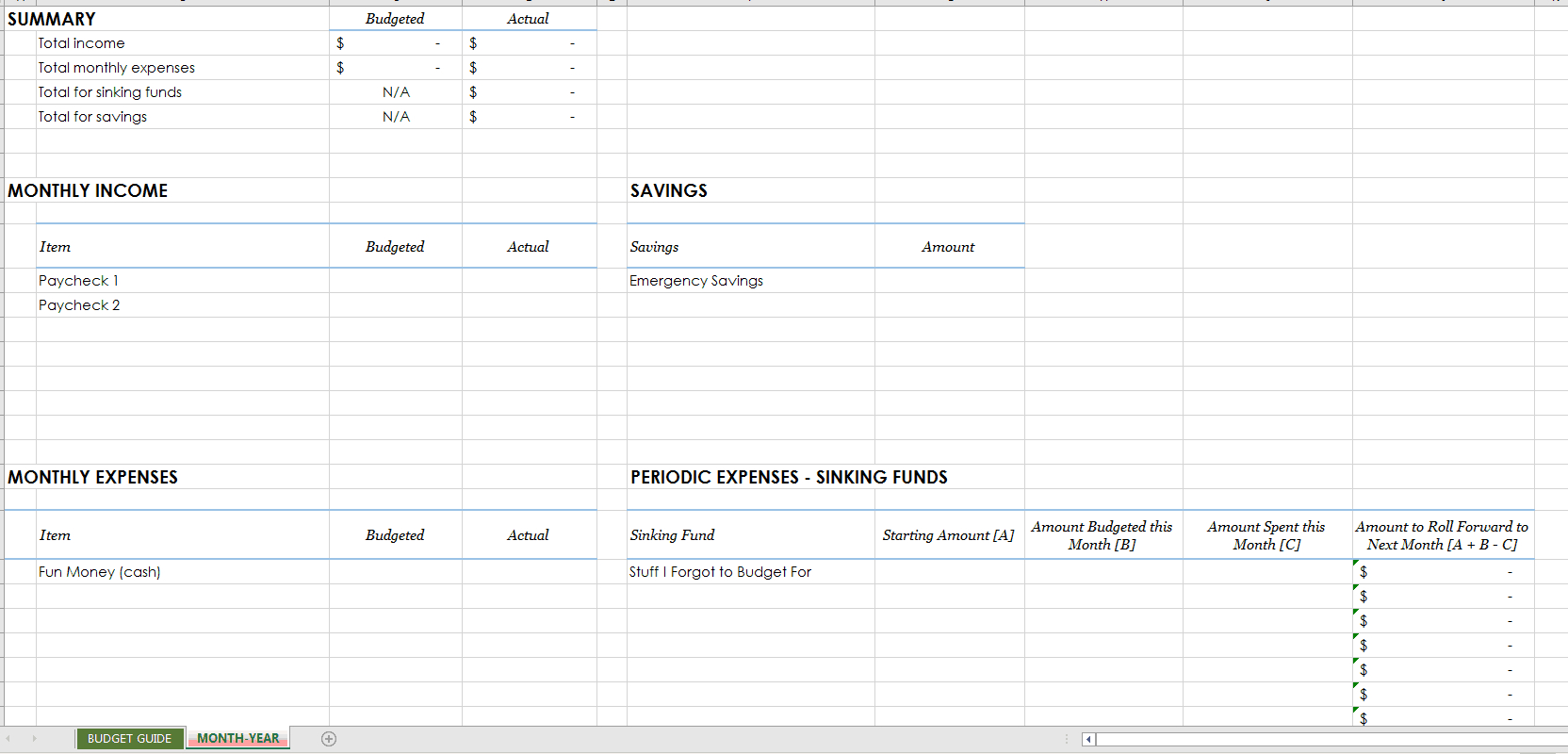 Sinking Fund Excel Spreadsheet Printable Spreadshee Sinking Fund Excel Spreadsheet Template