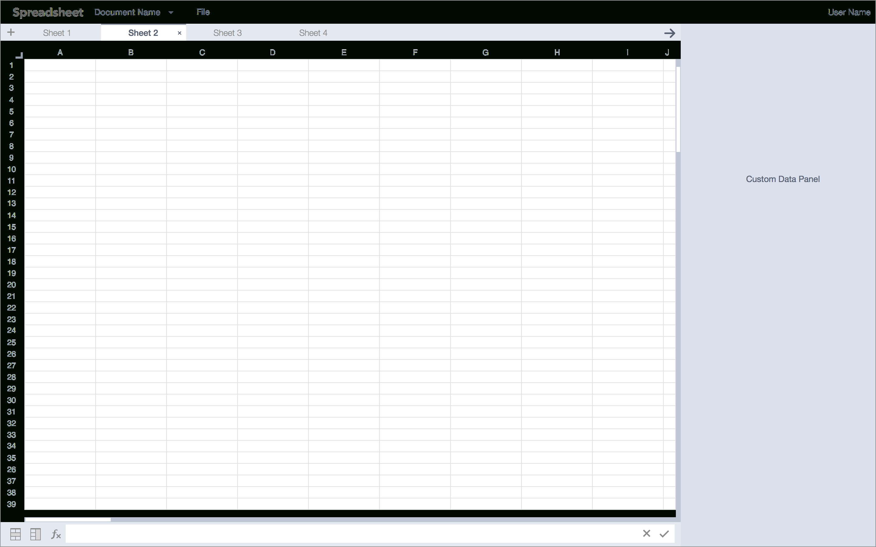Spreadsheet Application With Spreadsheet Application
