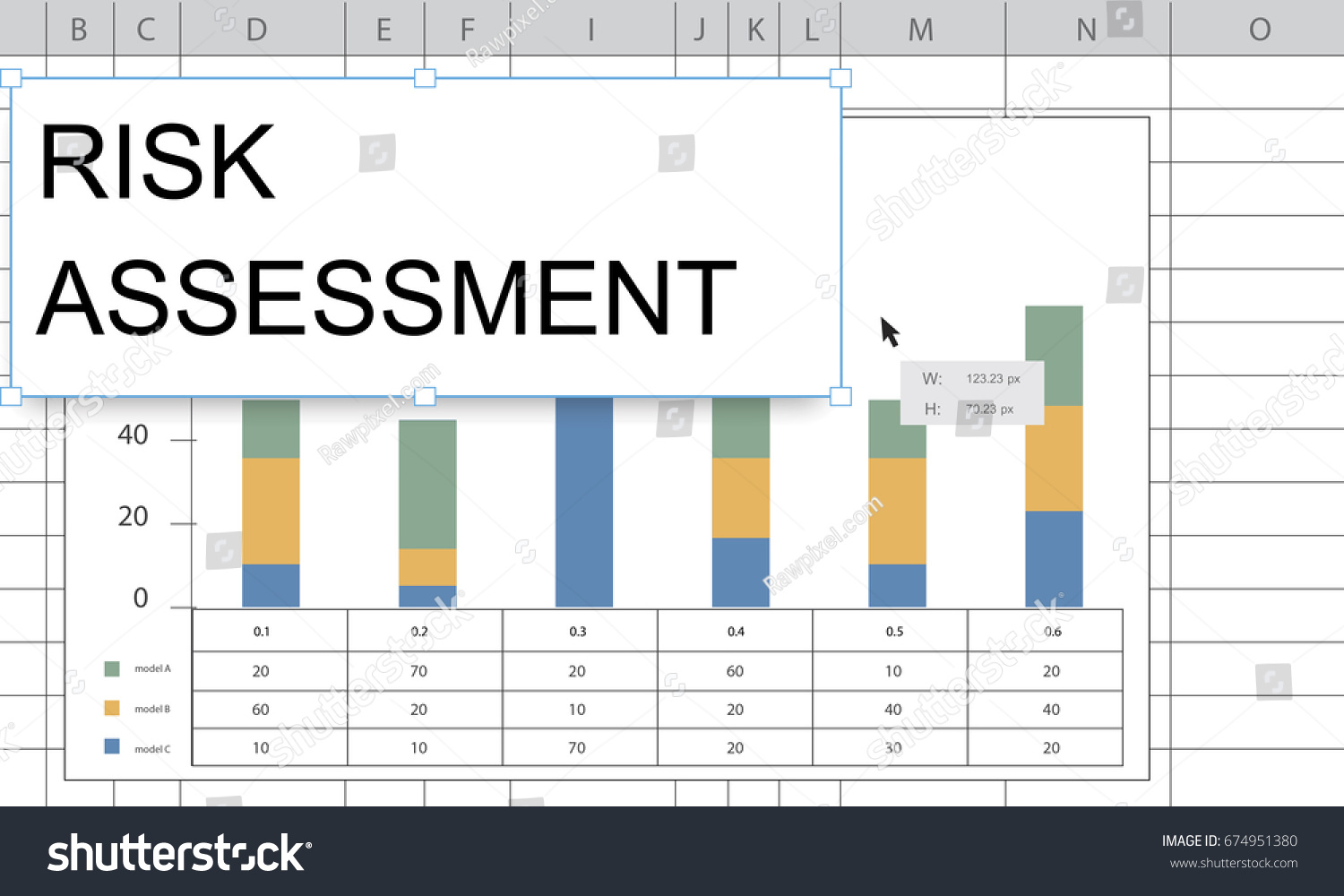 Spreadsheet Chart Within Royalty Free Stock Illustration