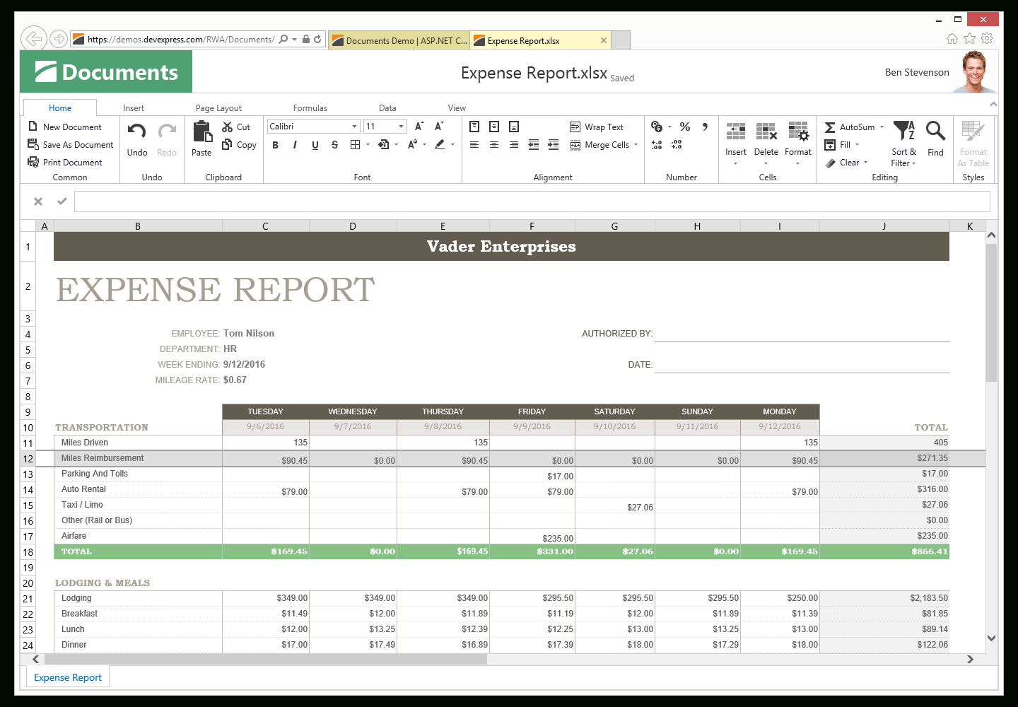 Spreadsheet Controls For Asp Spreadsheet Excel Inspired