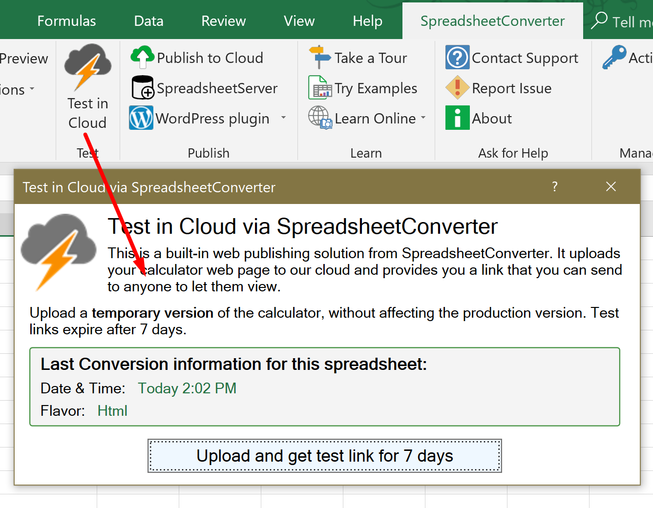 Spreadsheet Converter Review Inside Help Publish To Cloud