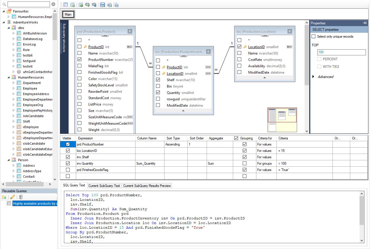 Spreadsheet Server Query Designer