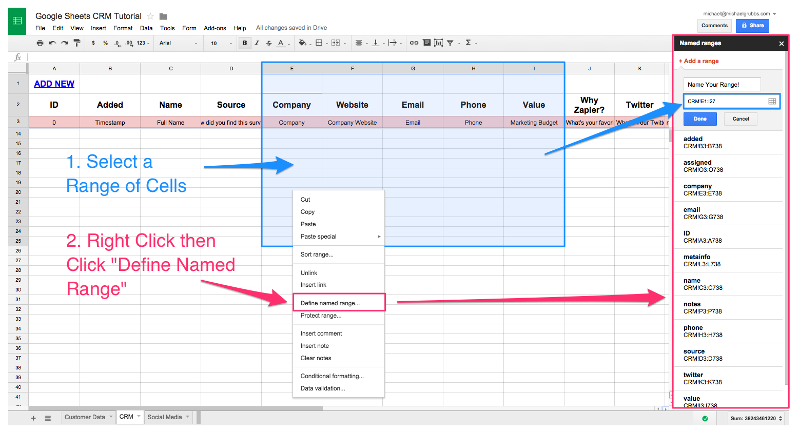 Spreadsheet Sheet Name With Spreadsheet Crm How To Create