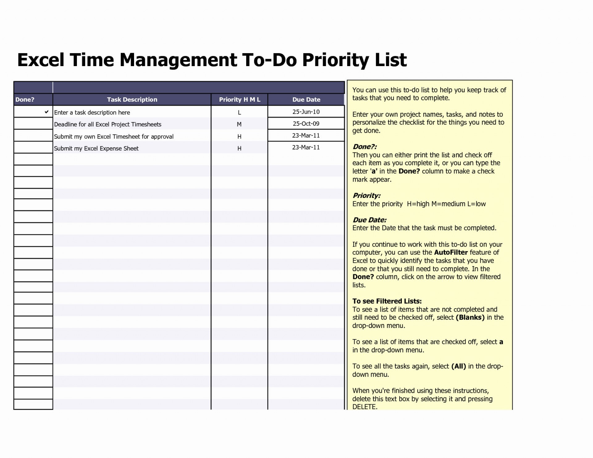 Spreadsheet To Do List Throughout 017 Weekly Todo List
