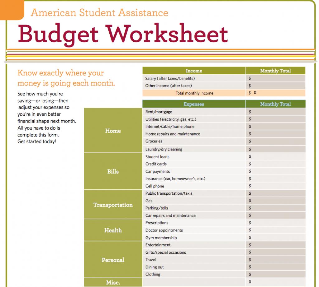 Worksheet For Excel For Students