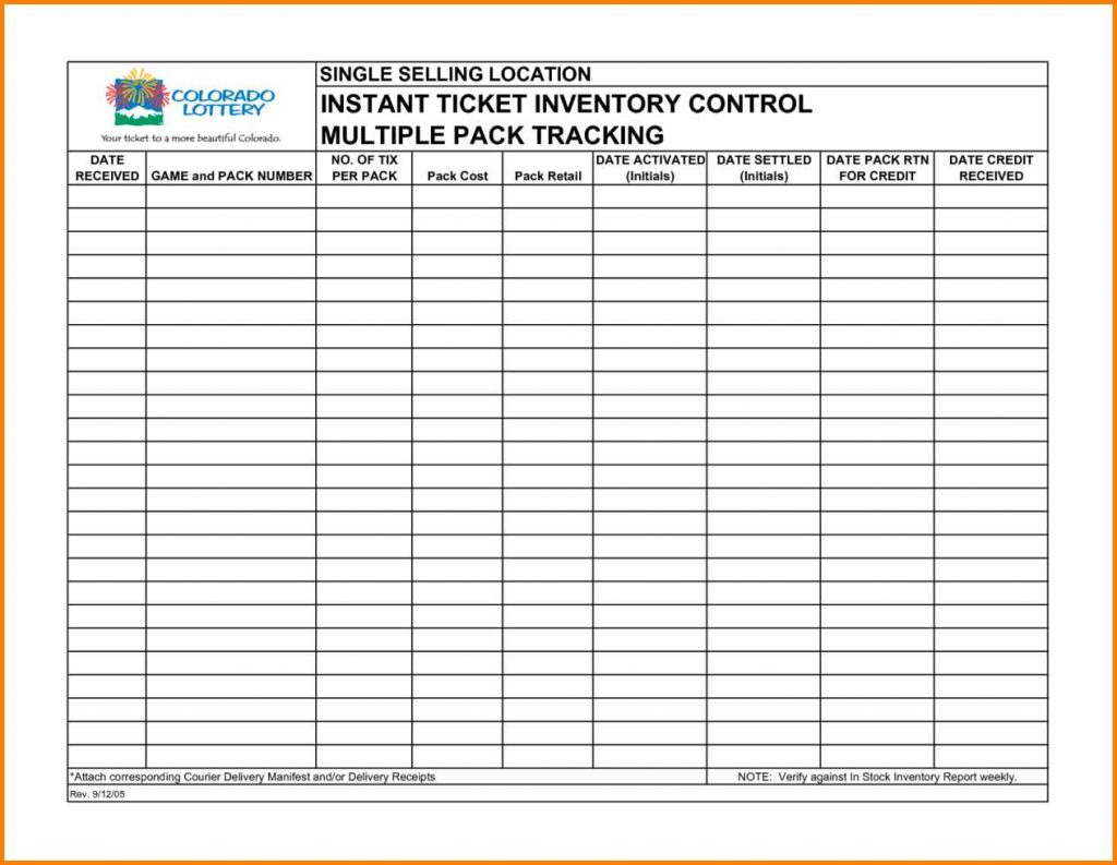 Store Inventory Spreadsheet In Retail Inventory