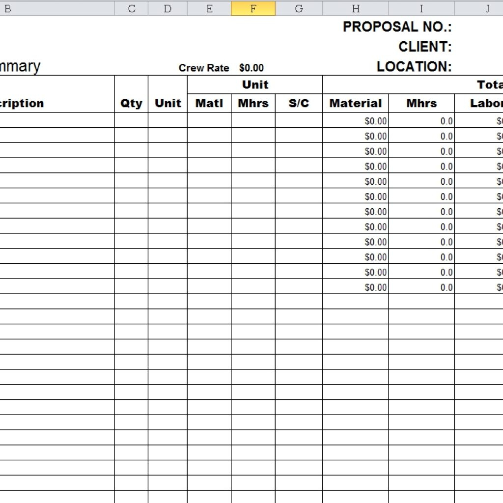 Structural Steel Takeoff Spreadsheet Regarding Structural