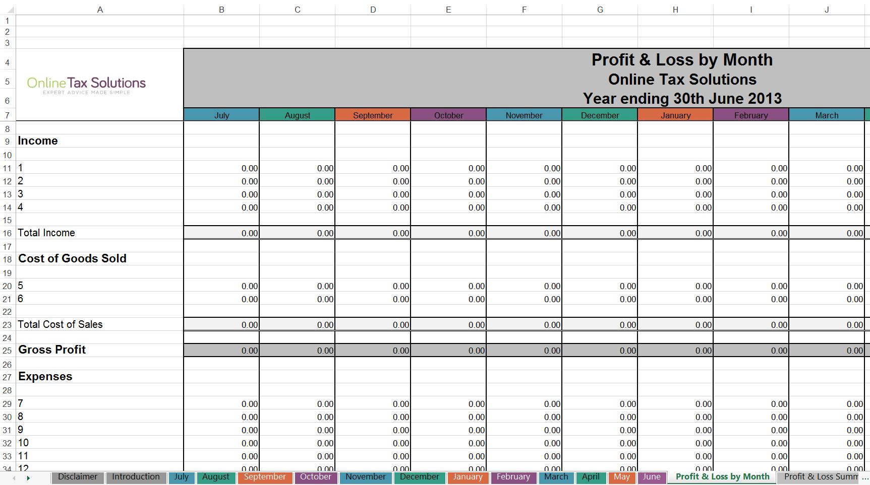 Tax Return Spreadsheet Australia